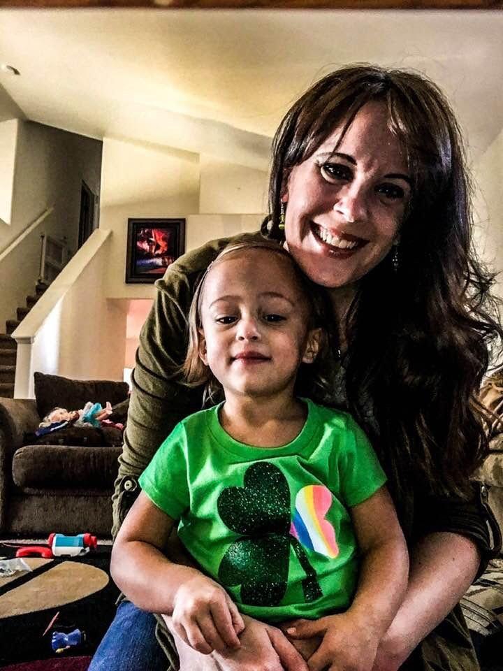 Nicki Runge and her daughter Ember