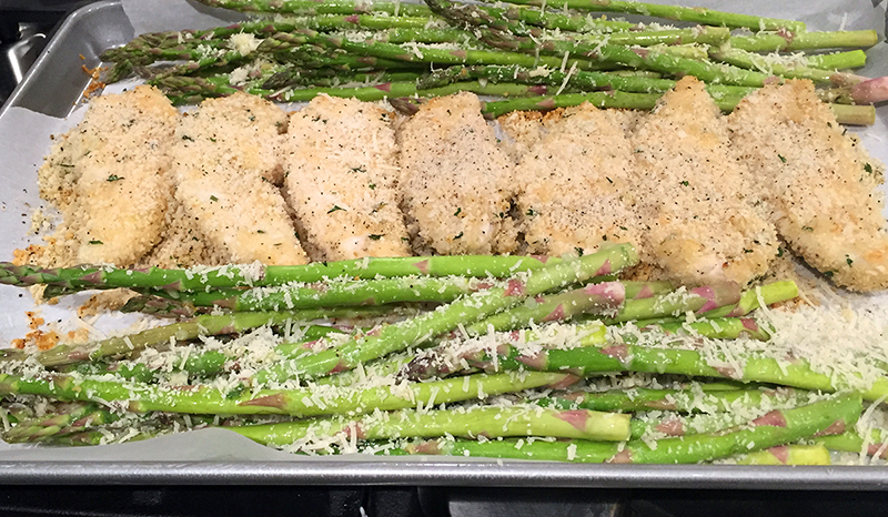 lemon parmesan chicken and asparagus