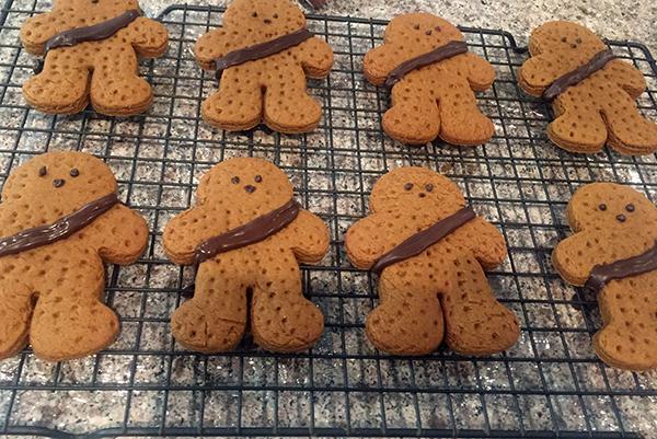 wookie gingerbread cookies