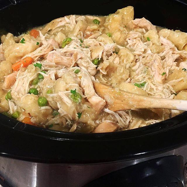 Slow Cooker Chicken and Dumplings . . . . . #liveauthentic #foodbeast #eeeeeats #eatfamous #feedfeed #dailyfoodfeed #onthetable #lifeandthyme #f52grams #tastingtable #huffposttaste #heresmyfood #buzzfeast #eattheworld #eater #rslove #foodandwine #foodblogfeed #beautifulcuisines #tastemade #slowcooker #cooking #dinner #recipe #chicken #crockpot #tasty #letsbakestuff #cook #dumplings
