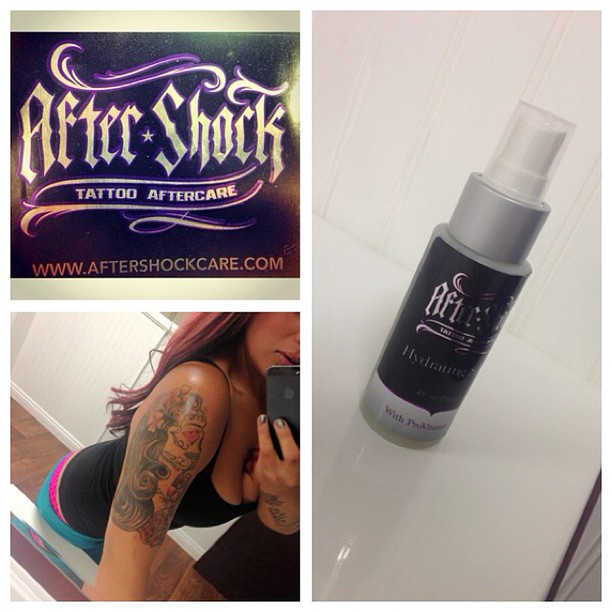 #aftershock #skincare #useaftershock #useit #tattoocare #tattoos #tattoochicks @misschevy92 I love aftershock #aftershockskincare #telleveryone