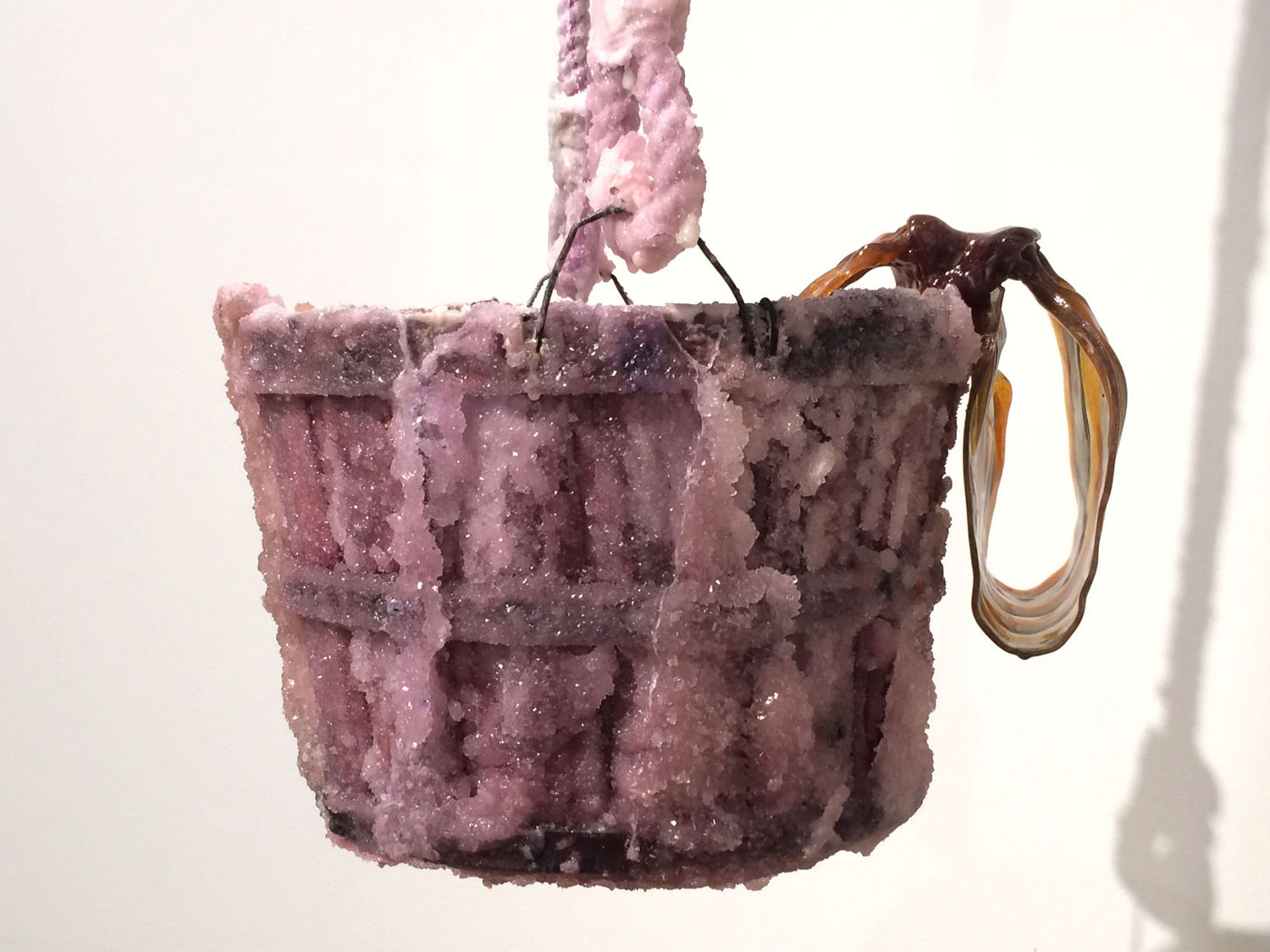 Sugar Bucket 2016 (Sugar encrusted bucket and rope, pulled sugar bow)