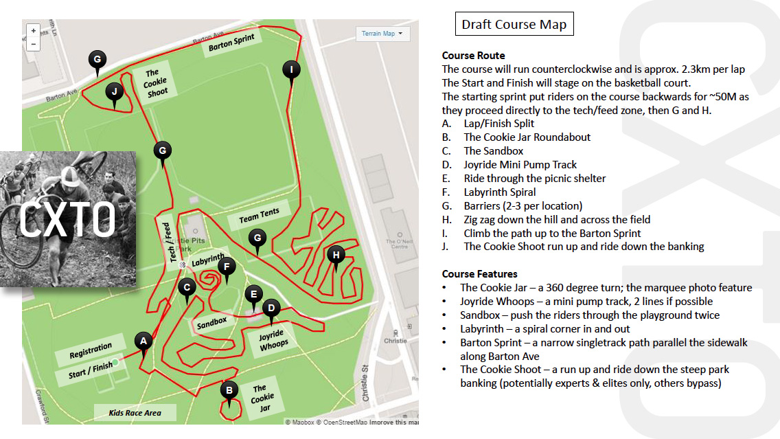 """Its a work in progress for now, but here's a sample of what you could expect on the CXTO Christie Pits """"Cookie"""" Cross."""
