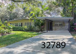 Mid-century modern in  Winter Park   3 BR/2 BA - 1,731sf  $298,000   2854 Mulford Ave Winter Park