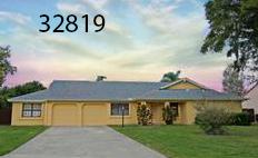 Split floorplan in Dr Phillips area  4 BR/3 BA - 2,304sf  $309,999   6032 Crystal View Dr Orlando