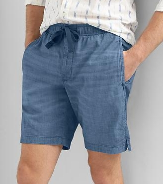 "Chambray Drawstring Shorts - $39.95 Gap (9"" inseam)"