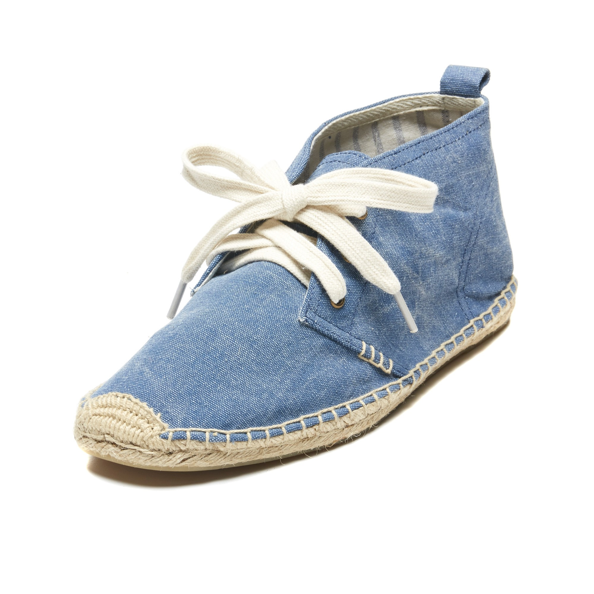 Desert Boot in Washed Marine Blue - $89 Soludos