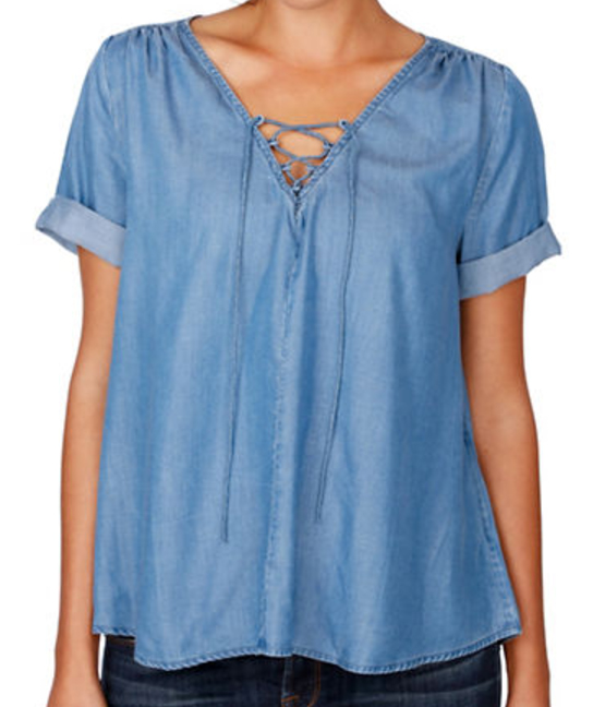 Lucky Brand Lace-up Top - $69.50 Lord & Taylor