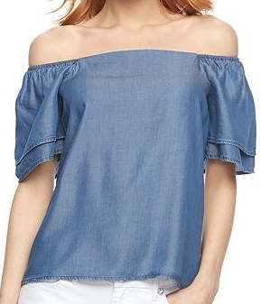 Apt. 9 Chambray Off-the-Shoulder Top - $36 Kohl's