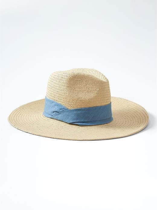 Wide Brim Straw Hat - $48 Banana Republic