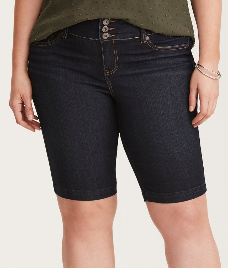 "Dark Wash Bermuda Short - $44.90 Torrid (11"" inseam)"