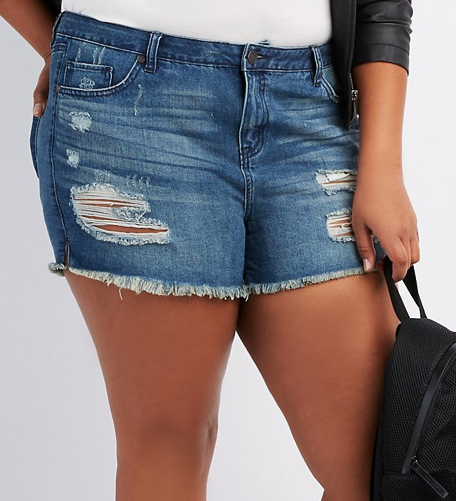 'Refuge' Girlfriend Cut-off Denim Shorts - $28.99 Charlotte Russe