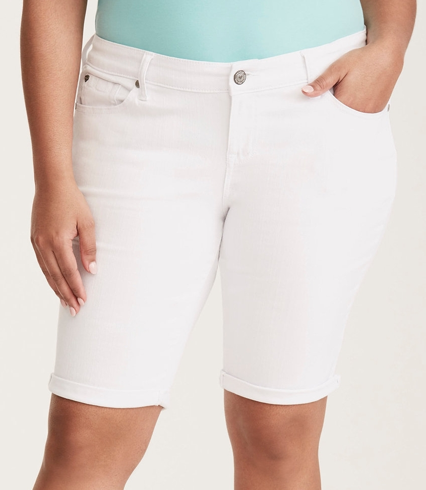 "White Wash Bermuda Shorts - $44.90 Torrid (11"" inseam)"