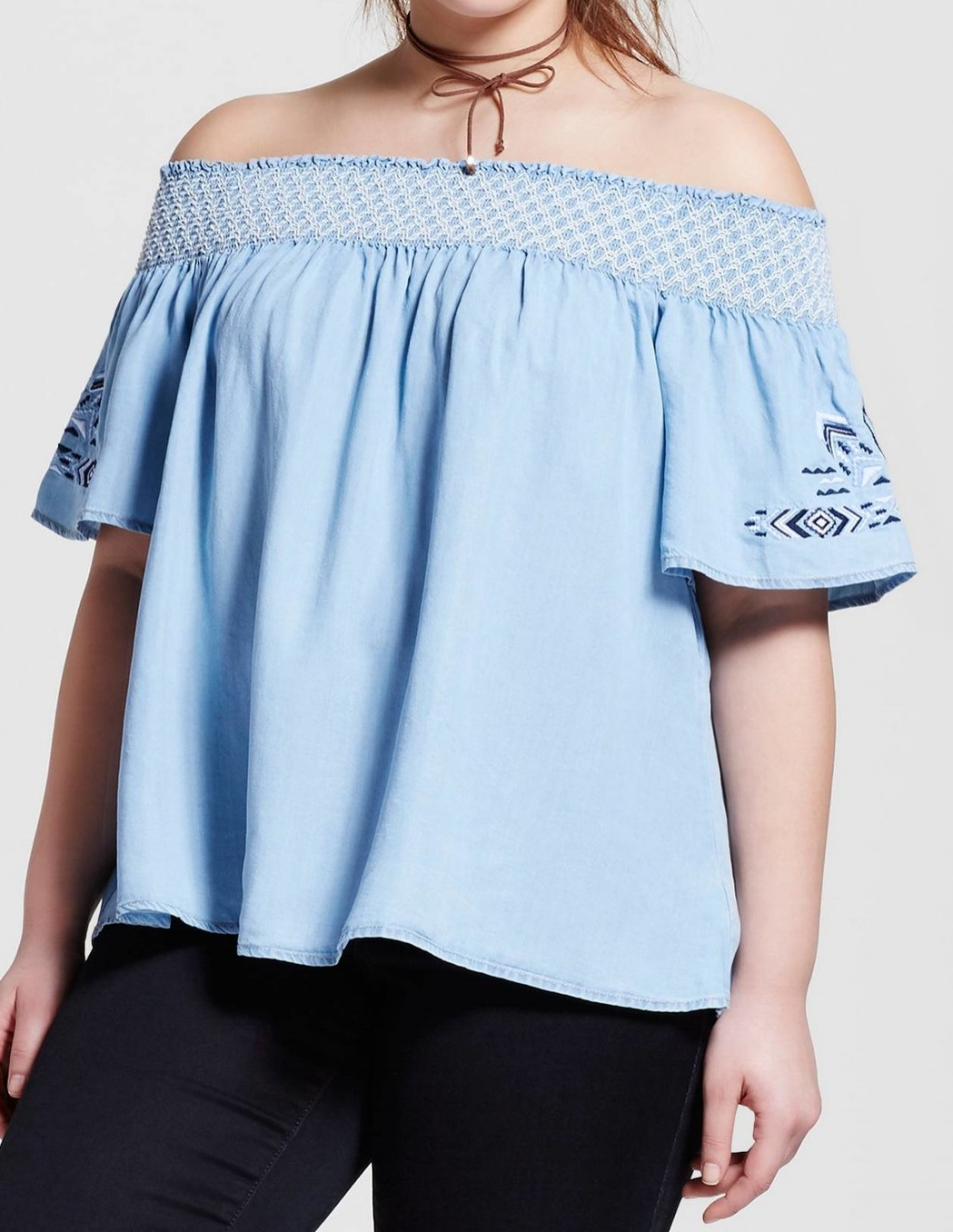 '3 Hearts' Chambray Off the Shoulder Top - $24.99 Target
