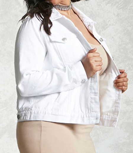 White Denim Jacket - $27.90 Forever21