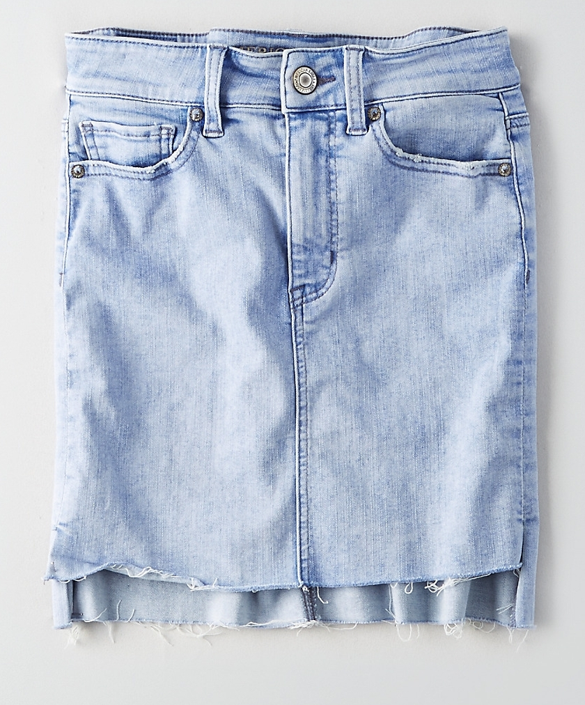 Hi-Rise Midi Denim Skirt - $39.95 American Eagle