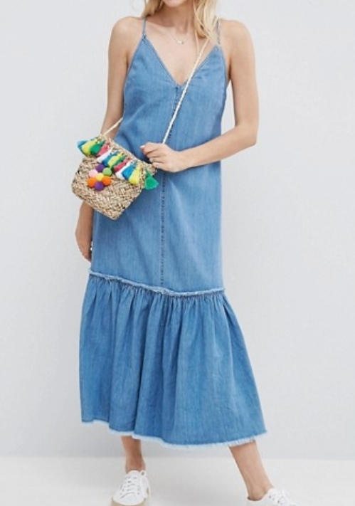 Denim Maxi Dress - $60 ASOS