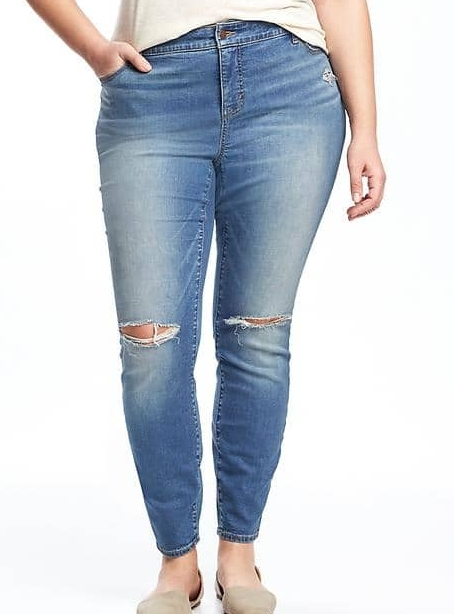 Smooth & Slim High-Rise Rockstar Jeans - $49.94 Old Navy
