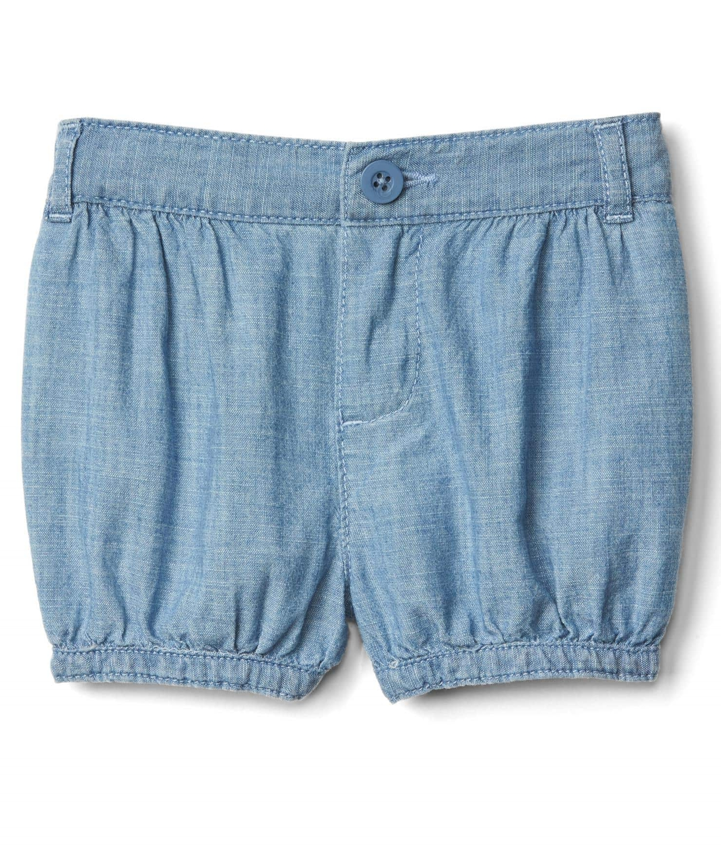 Chambray Bbble Shorts - $29.95 Gap