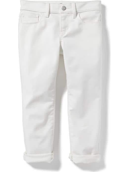 Stay-White Skinny Capris - $19.94 Old Navy