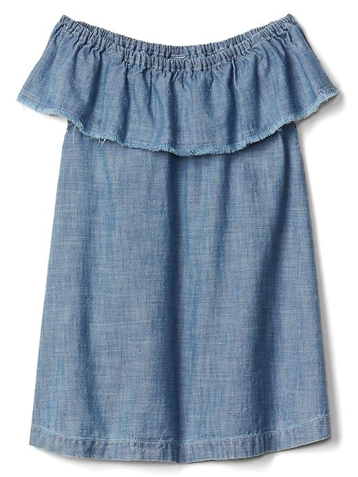 Ruffle Chambray Dress - $34.95 Gap