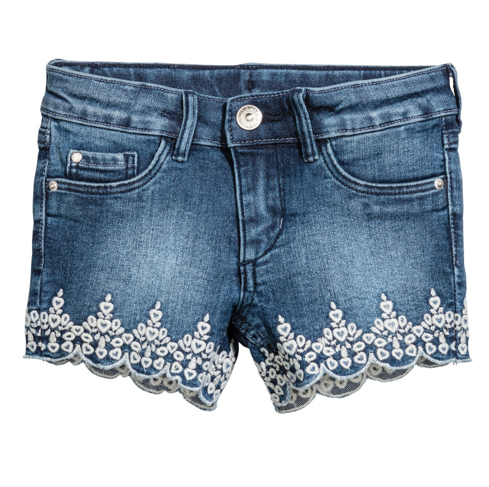 Embroidered Shorts - $17.99 H&M