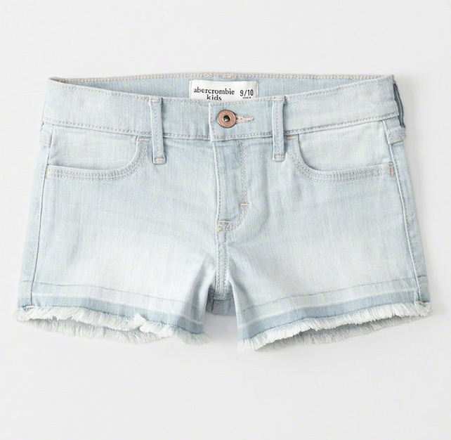 Light Wash Shorts - $29.95 Abercrombie