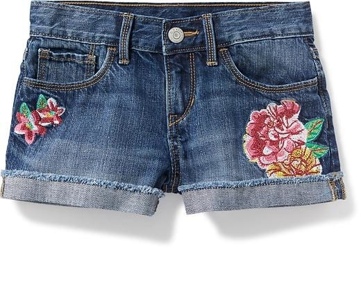 Floral Patch Cutoffs - $24.94 Old Navy