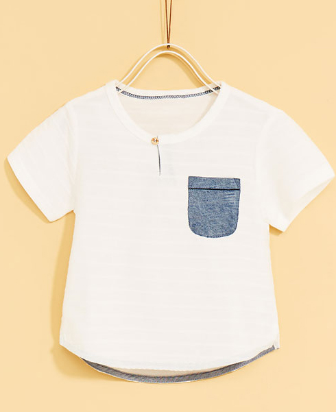 Indigo Pocket T-shirt - $15.90 Zara