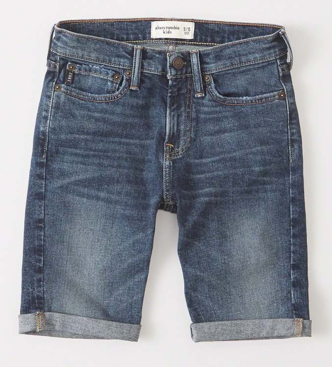 Stretch Denim Shorts - $34.95 Abercrombie