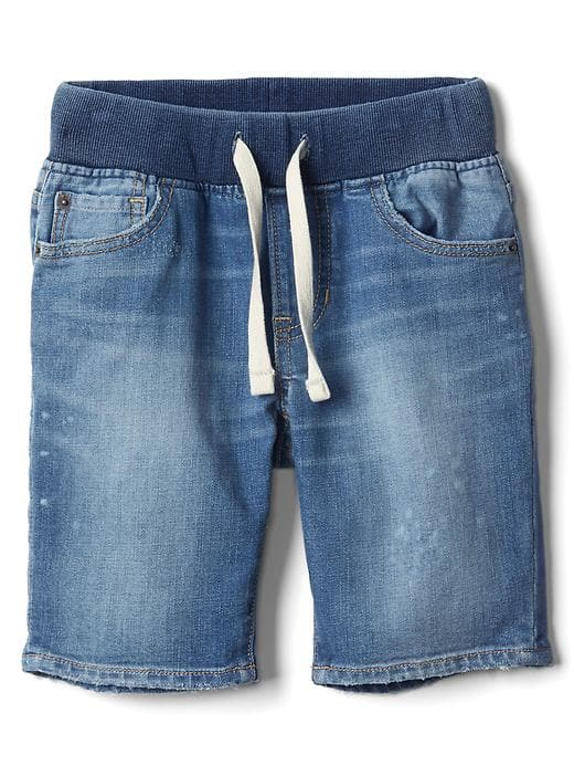 Stretch Denim Pull-on Shorts - $29.95 Gap