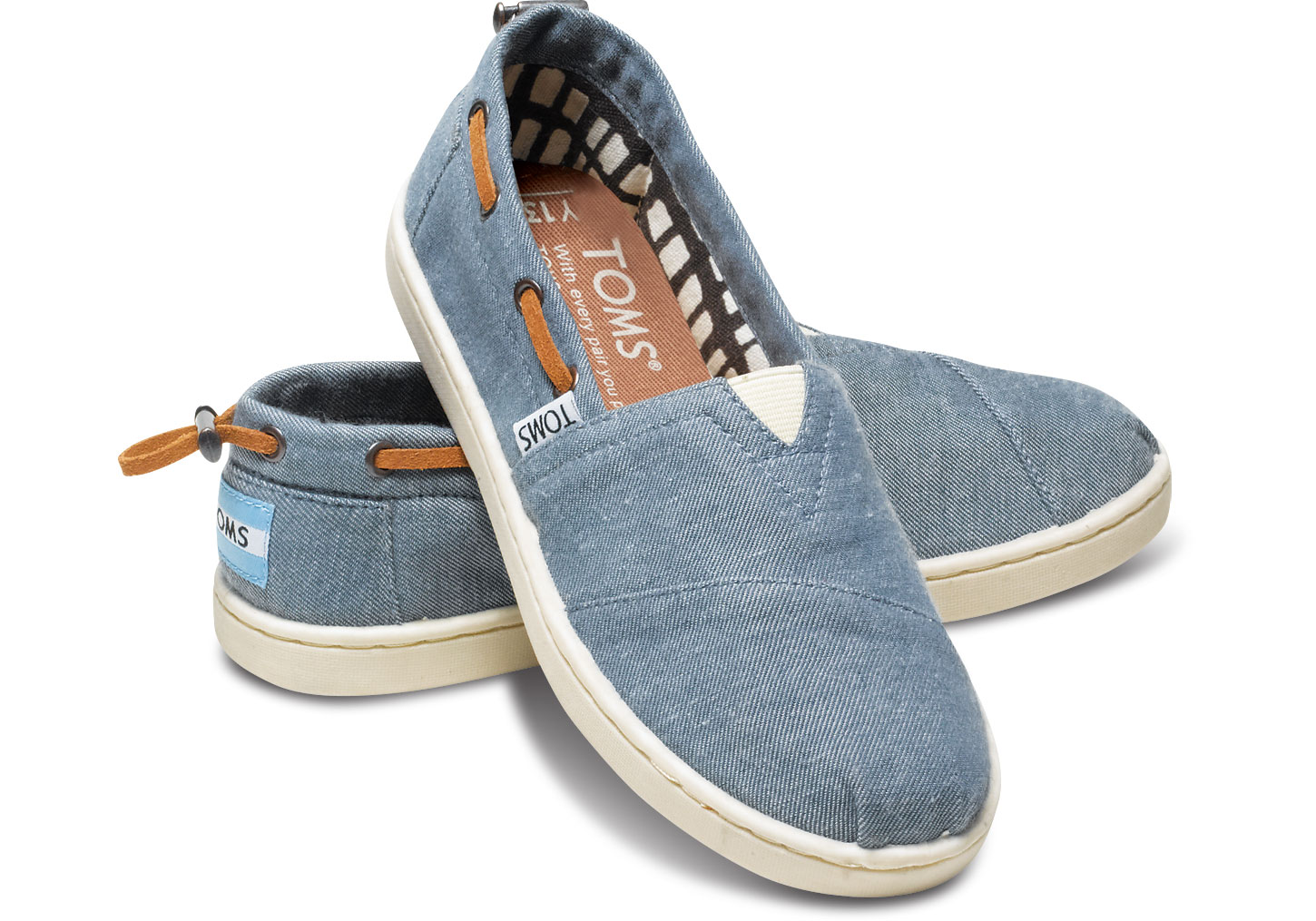 Chambray Youth Biminis - $42 Toms