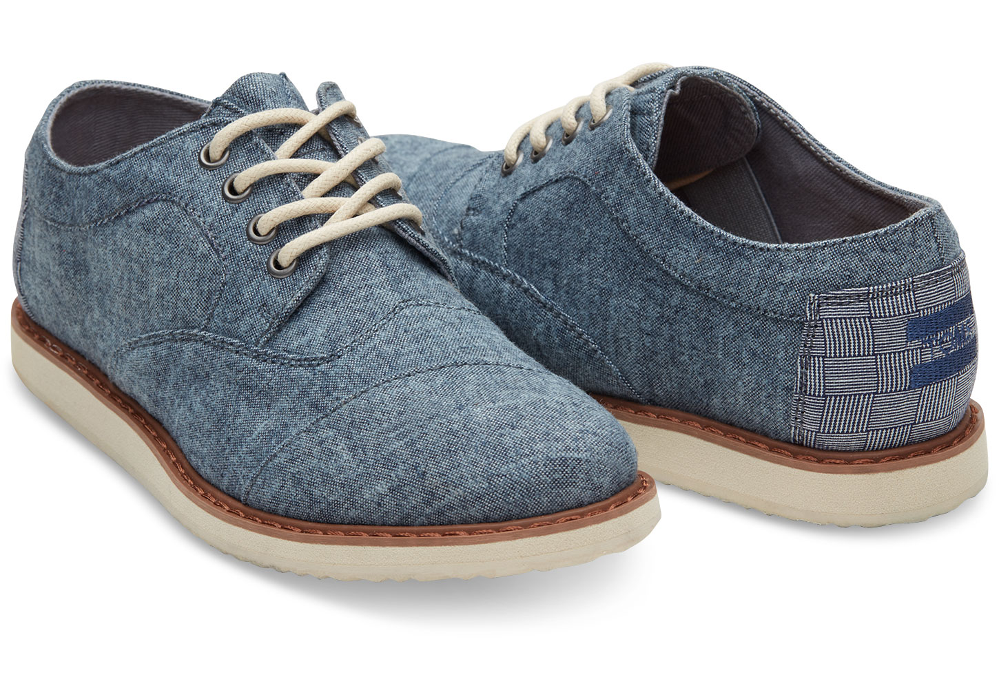 Chambray Youth Brogues - $54 Toms