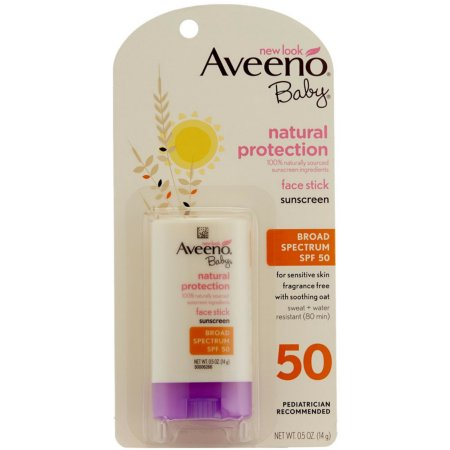 Aveeno Baby Natural Protection Face Stick Sunscreen, SPF 50