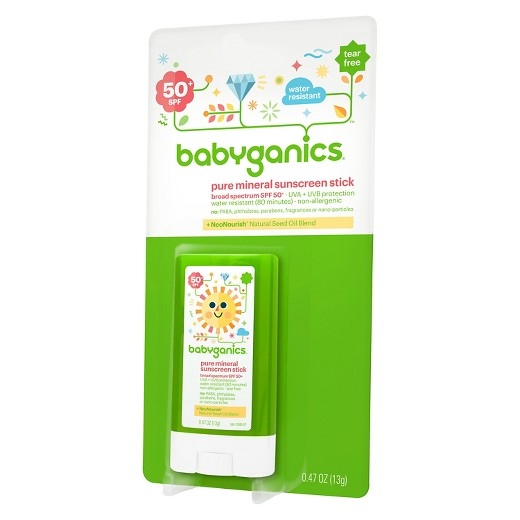 Babyganics Pure Mineral Sunscreen Stick, SPF 50+
