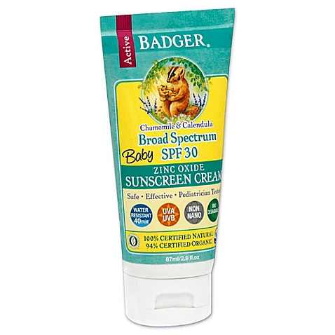 Badger Baby Broad Spectrum Sunscreen Cream, SPF 30