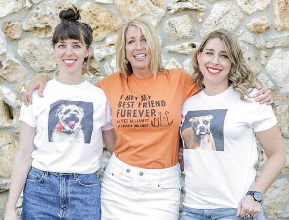 Liv, Sue, & Hannah of GO BIG Marketing / Orlando Shirts
