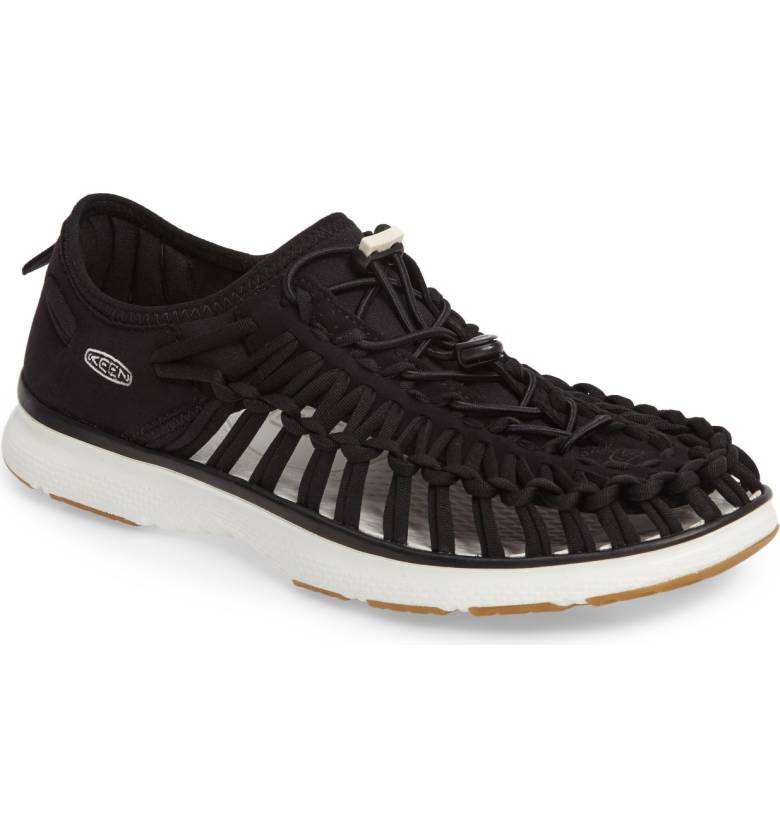 Going somewhere beachy? Need water shoes? These  Uneek O2 Water Sneakers from KEEN  are made of stretchy scuba fabric. Innovative AND stylish! $89