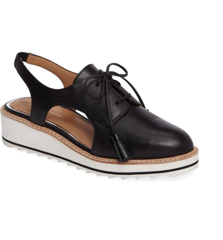 This  Linea Paolo 'Mary'  is a hybrid oxford/wedge that's a perfect style for both pants and skirts. The tasseled laces are a cute fashion detail. $119