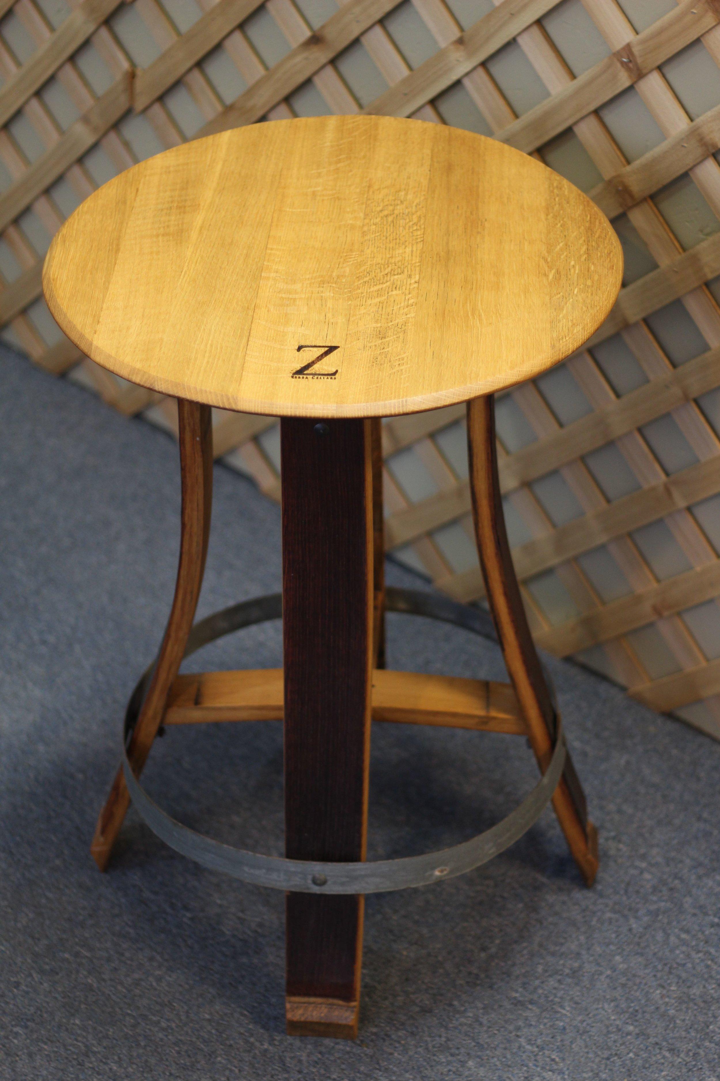 Wine Barrel Table $429