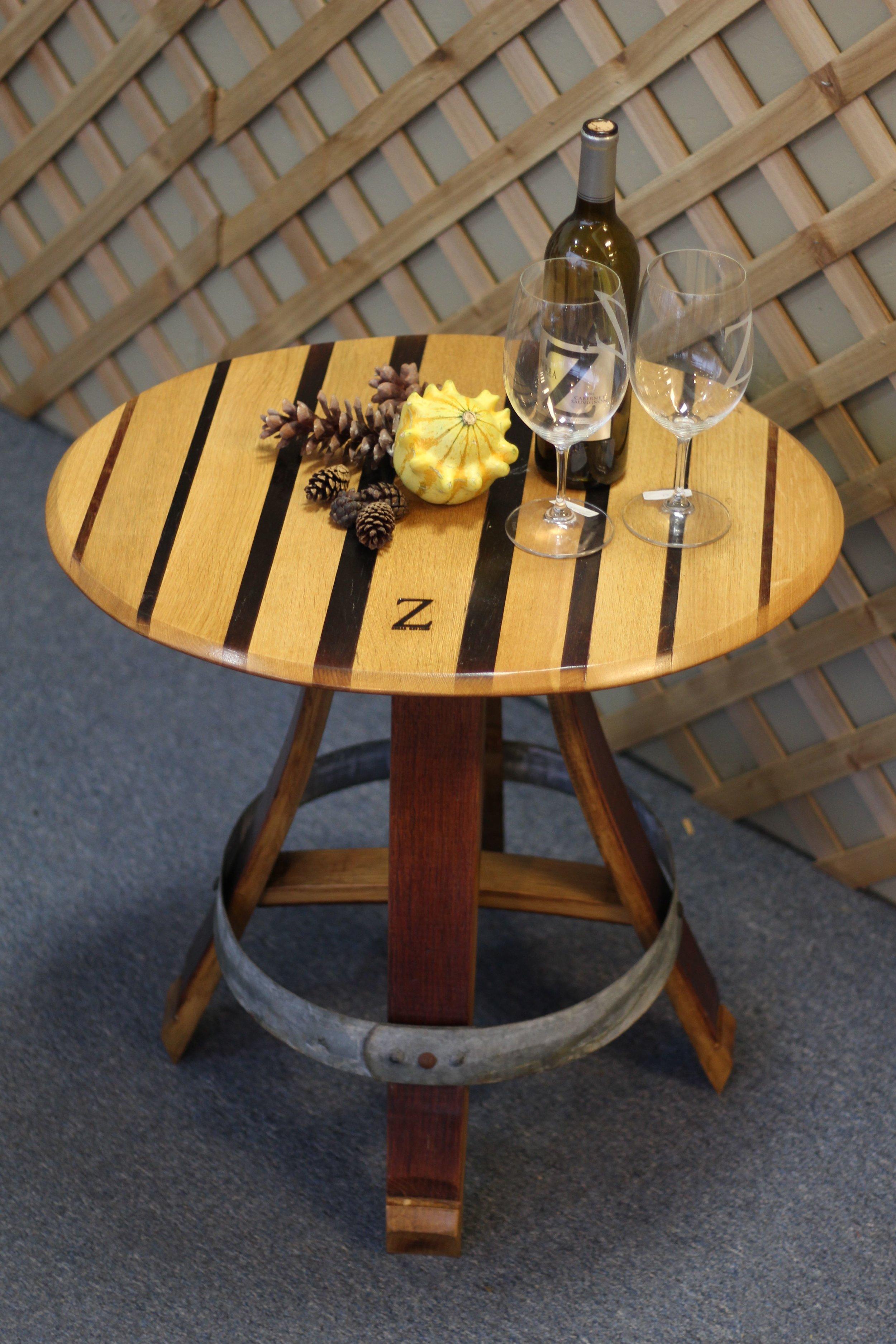 Wine Barrel Table $395