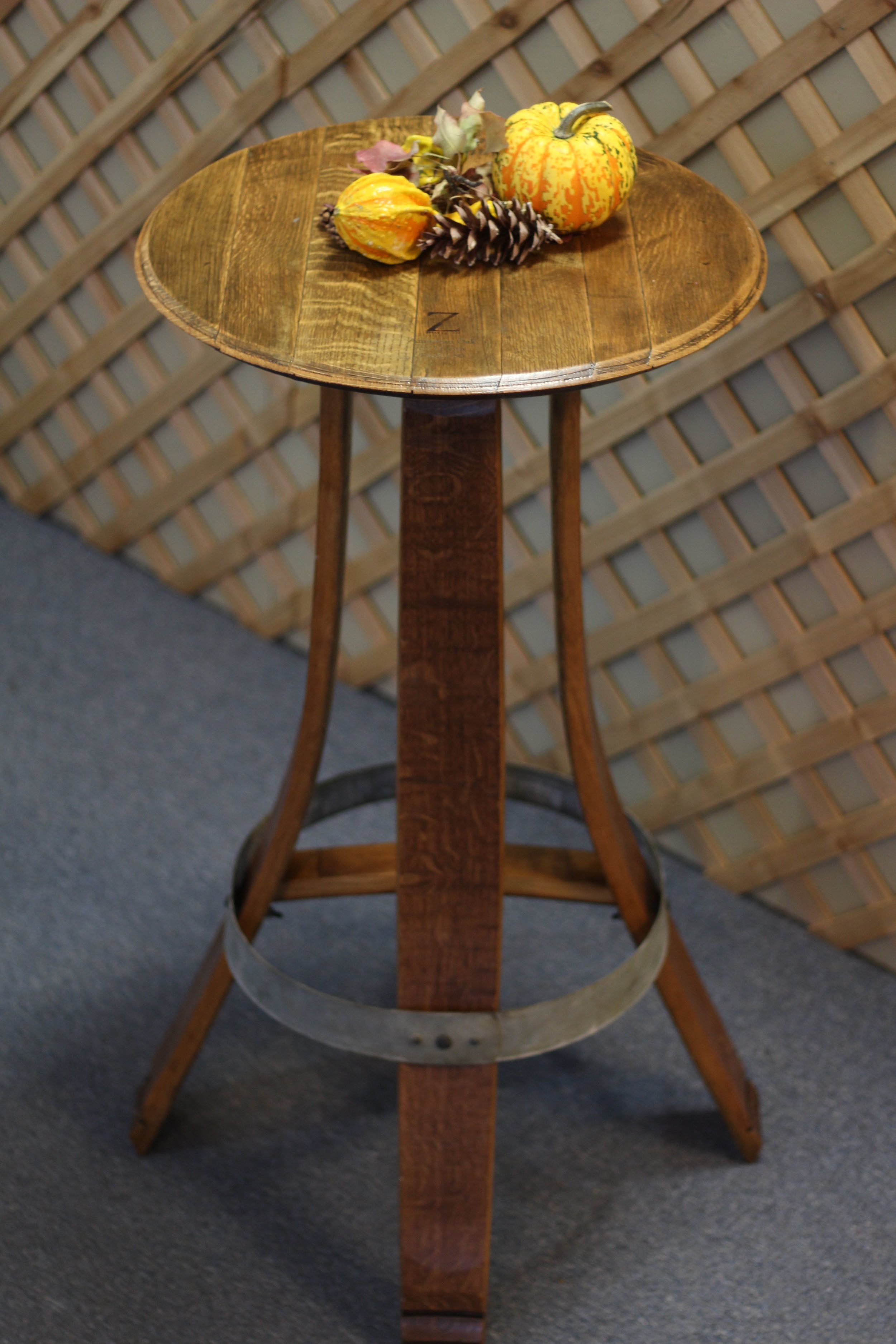 Wine Barrel Bistro Table $725
