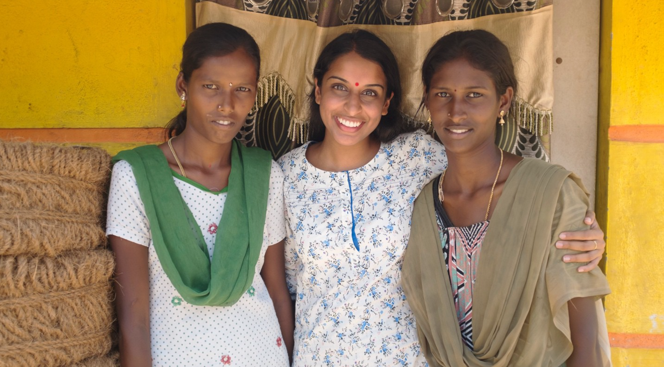 Sathya, her friend, and myself when I reconnected with them after two years. 2016.