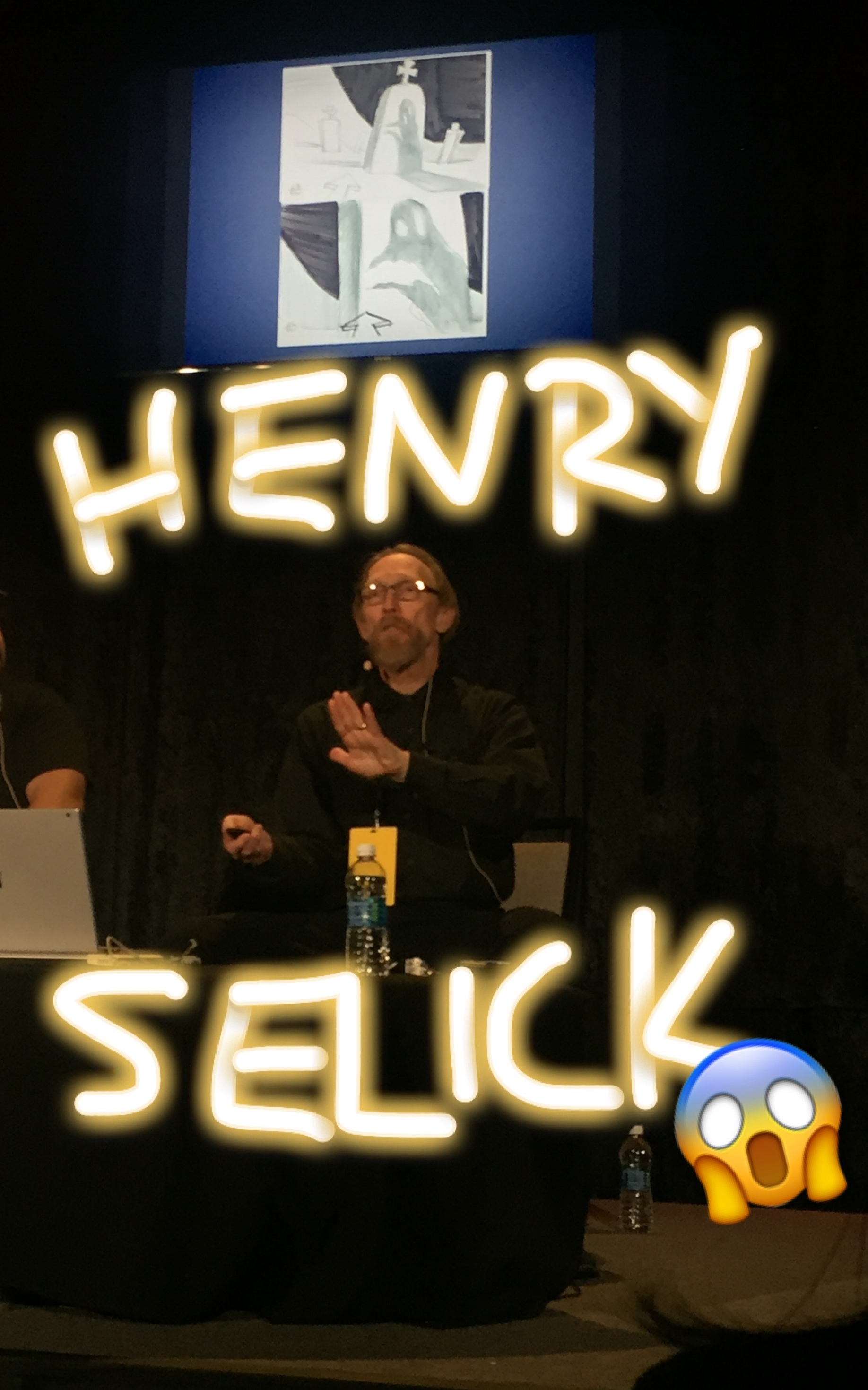 Pinch me, I'm watching Henry Selick speak!