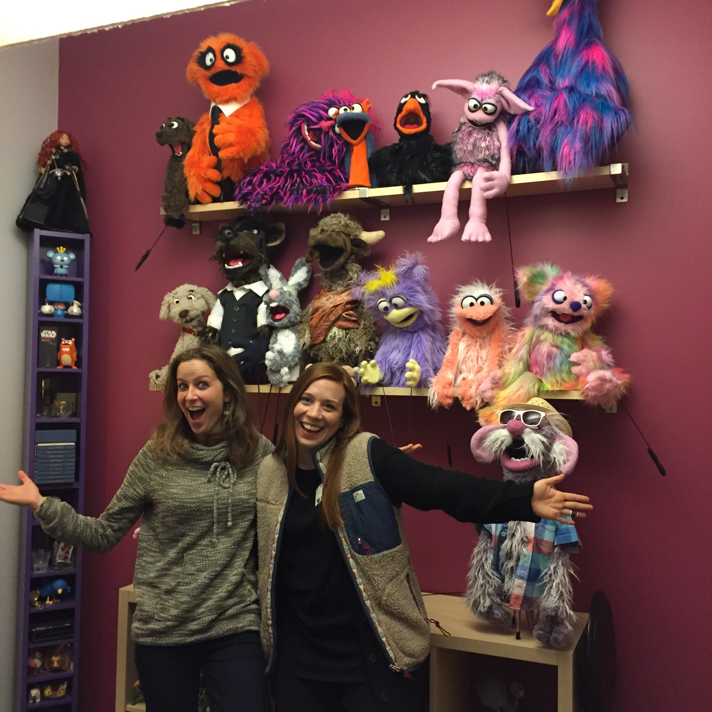 My friend from Ringling School of Art & Design PRECOLLEGE 2004, who I reconnected with after 12 years!! Check out @cathickspuppets, who is an animator at Pixar and also builds her own Muppet style puppets! So awesome