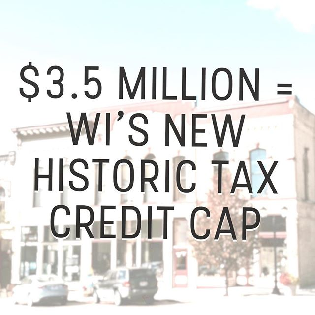 "The Wisconsin State Legislature approved the new historic tax credit project cap of $3.5 million. It's an increase from Governor Walker's line item veto in September of the proposed $5 million to $500,000. Thanks to every coalition that advocated for the increase! The increase is now headed back to Governor Walker...🤞🏾 . Here's an expert from Biztimes to help put that increase into perspective... . ""Since fiscal 2014, 54 percent, or $96.2 million, was awarded to Milwaukee projects, according to the Wisconsin Economic Development Corp., which awards the credits. . Between fiscal 2014 and 2017, 15 of the 61 Milwaukee projects were awarded less than $3.5 million. Thirteen of the 61 projects were awarded less than $500,000. . Scott Ramlow, co-owner and president of Uihlein/Wilson- Ramlow/Stein Architects, Inc., which specializes in historic preservation projects including the restoration project of the Old Main building at the Milwaukee VA Soldiers Home, said the $3.5 million increase will have a direct impact on several projects his clients are planning this year. . A $500,000 cap could support a $2.5 million overall project, while a $3.5 million cap could support a $17 million project, Ramlow said."""