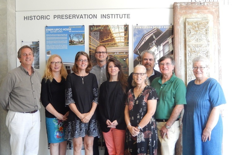 WTHP Board of Directors meeting with staff from the Michigan Historic Preservation Network.