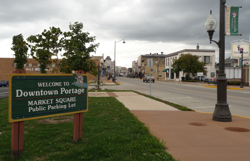 Historic downtown Portage