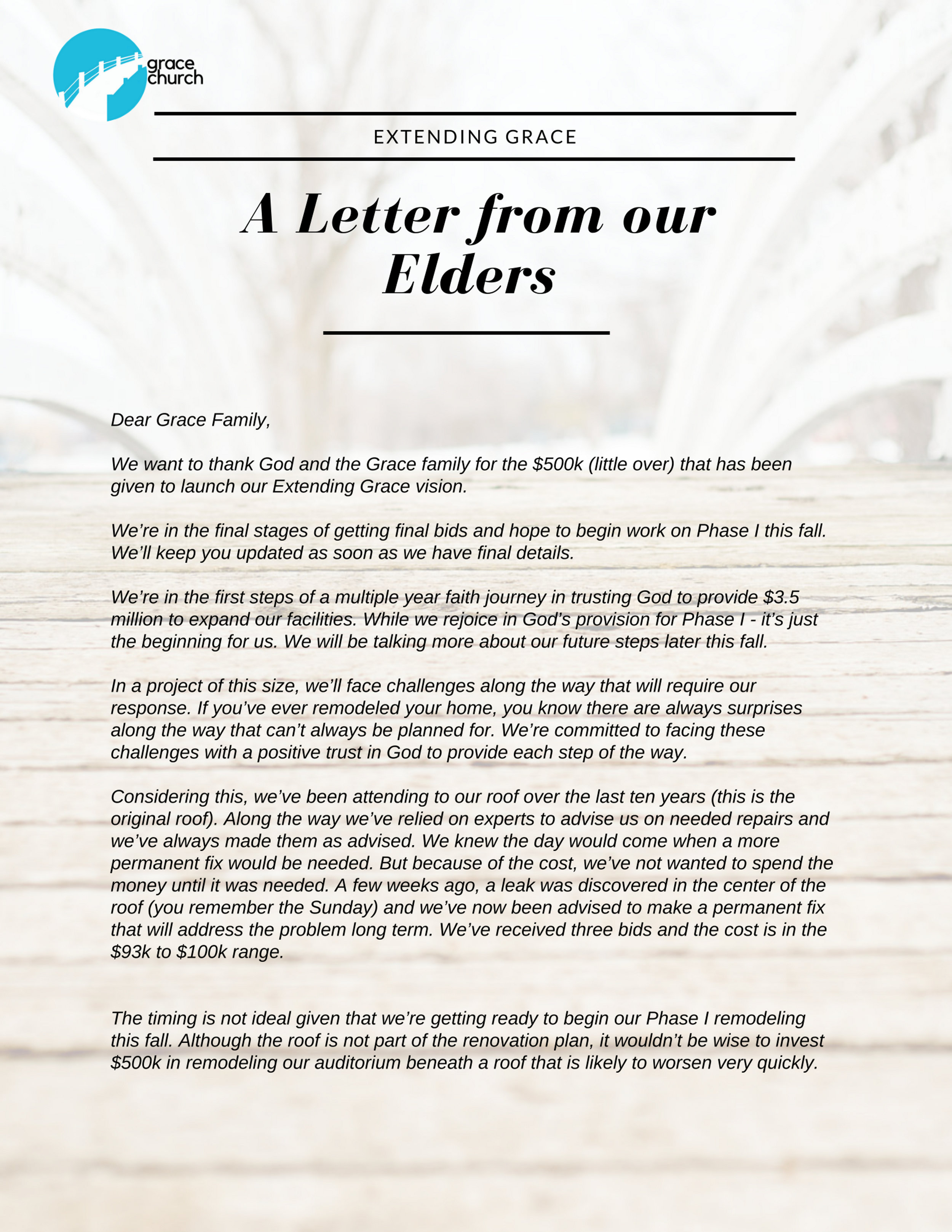 Letter from Elders PDF -