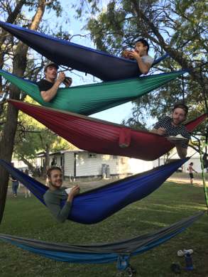 Eno (hammock) village at staff retreat